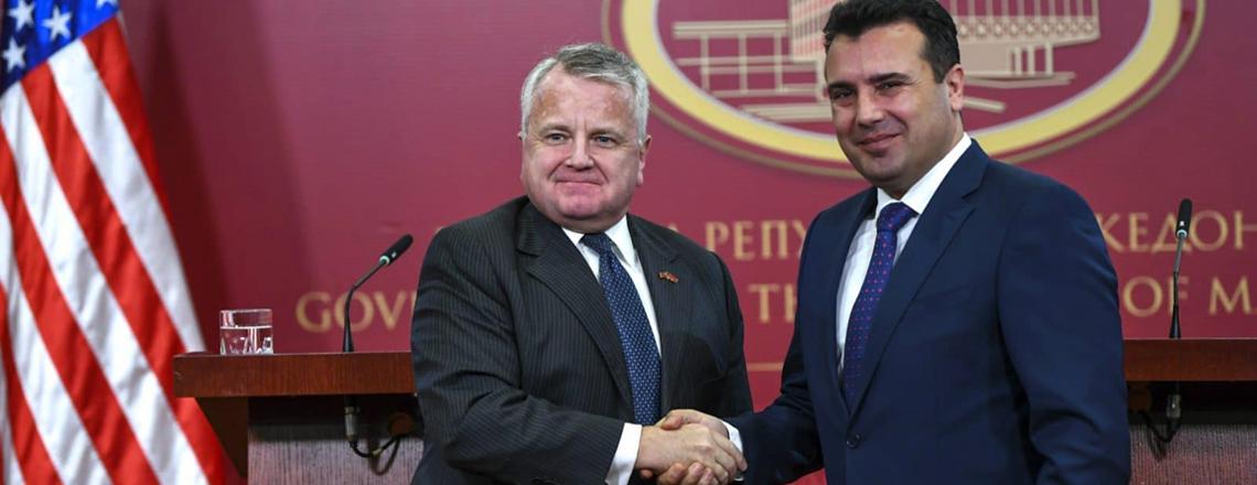 Deputy Secretary Sullivan's Call With Prime Minister of North Macedonia Zoran Zaev