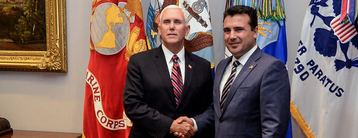 Vice President Pence congratulates Prime Minister Zaev on the historic Prespa Agreement