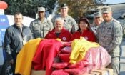 ODC and U.S. military representatives and Red Cross employees organized a shipment of winter jackets
