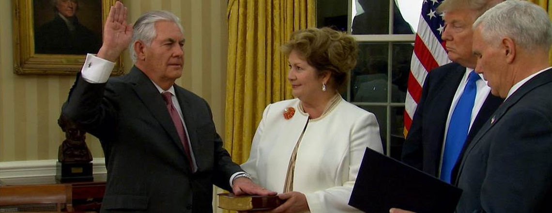 Learn about Secretary of State Rex Tillerson